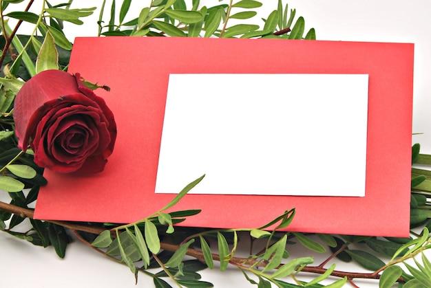 Kaart met bloemen om valentijnsdag te feliciteren