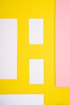Kaart mock-up in geel