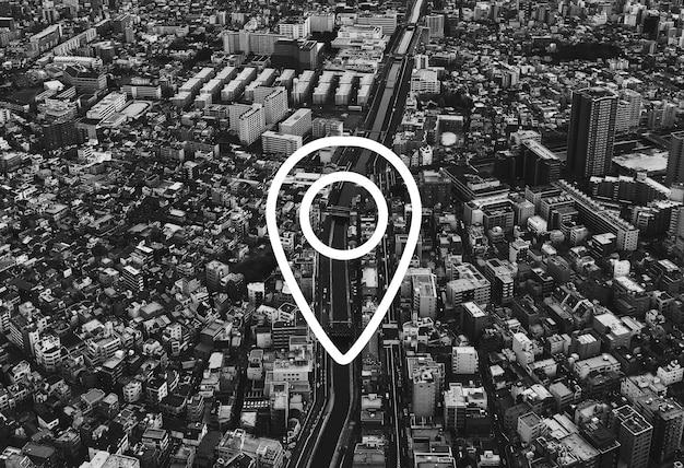 Kaart pin locatie richting positie afbeelding Gratis Foto
