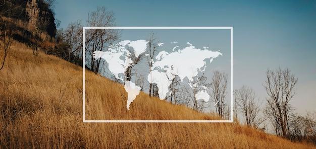 Kaart reizen avontuur grafisch patroon banner