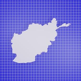 Kaart van afghanistan rendering
