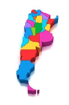 Kaart van argentinië provincies