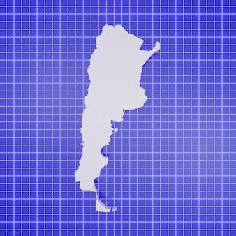 Kaart van argentinië rendering Premium Foto