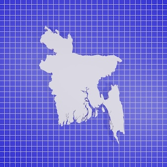 Kaart van bangladesh rendering