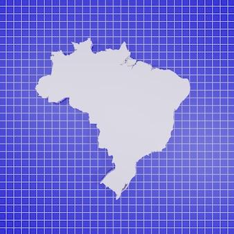 Kaart van brazilië rendering