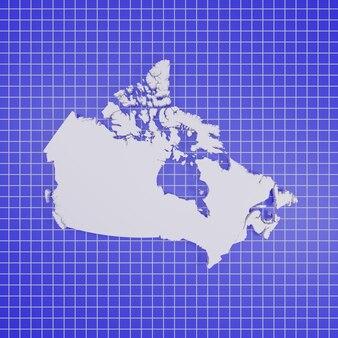 Kaart van canada rendering