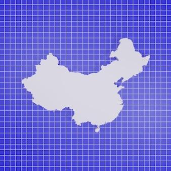 Kaart van china rendering Premium Foto