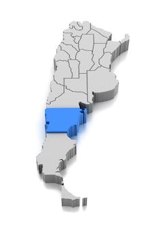 Kaart van chubut provincie, argentinië