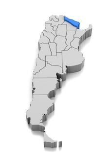 Kaart van formosa provincie, argentinië