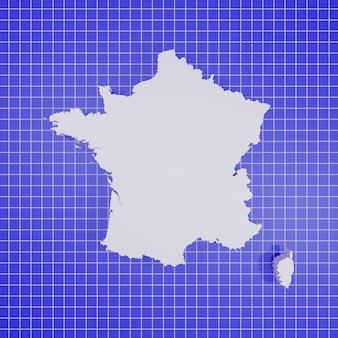 Kaart van frankrijk rendering