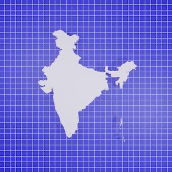 Kaart van india rendering