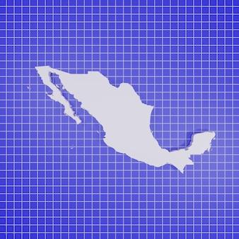 Kaart van mexico rendering