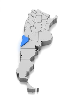 Kaart van neuquen provincie, argentinië