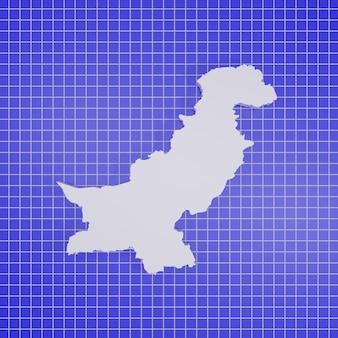 Kaart van pakistan rendering