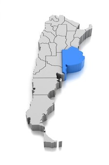 Kaart van provincie buenos aires, argentinië