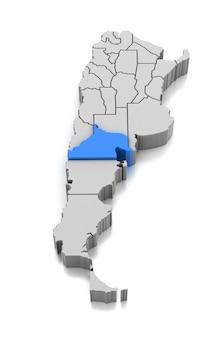 Kaart van provincie rio negro, argentinië