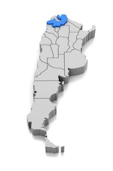 Kaart van provincie salta, argentinië