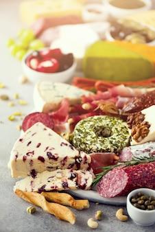 Kaas en vlees voorgerecht