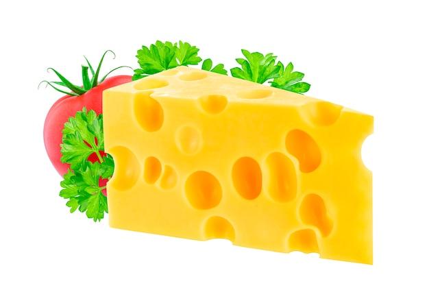Kaas op wit wordt geïsoleerd dat