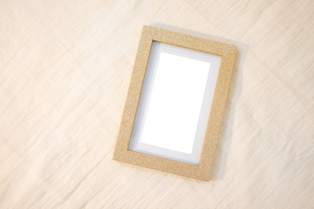 Kader moderne boho klaar voor gebruik. stijlvol woonkamerinterieur met bruin frame