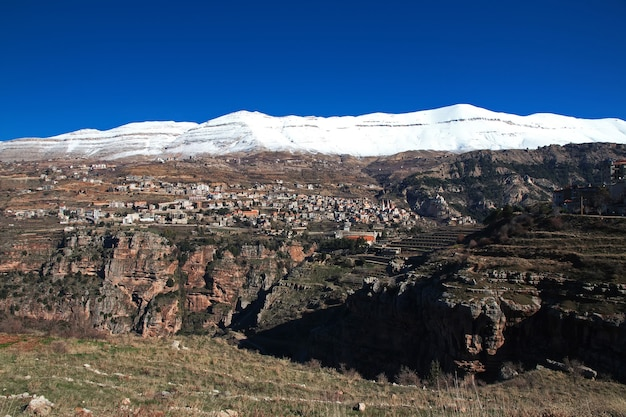 Kadisha valley in de bergen van noord-libanon