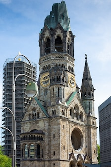 Kaiser-wilhelm-gedächtniskirche in berlijn, gedachtniskirche, protestantse kerk, duitsland