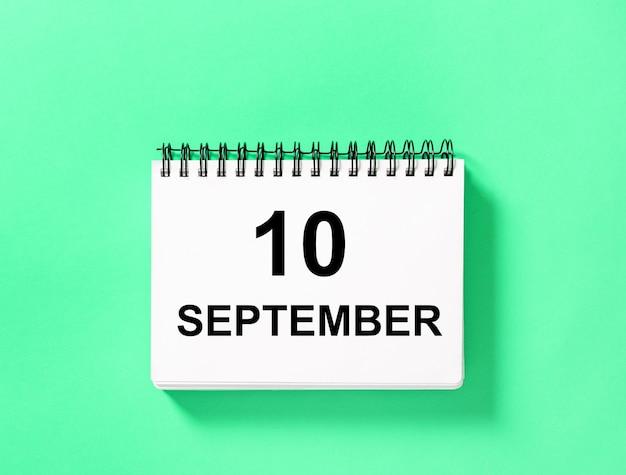 Kalender boek datum 10 september