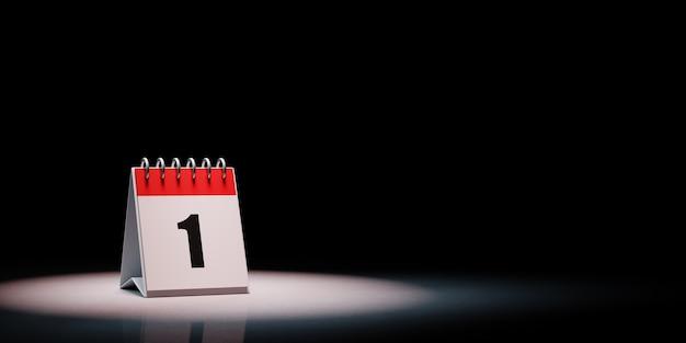 Kalender in de schijnwerpers geïsoleerd
