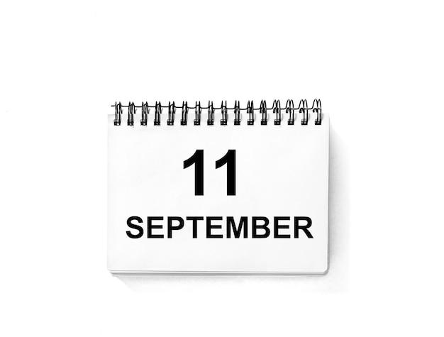 Kalenderboek voor datum. 11 september