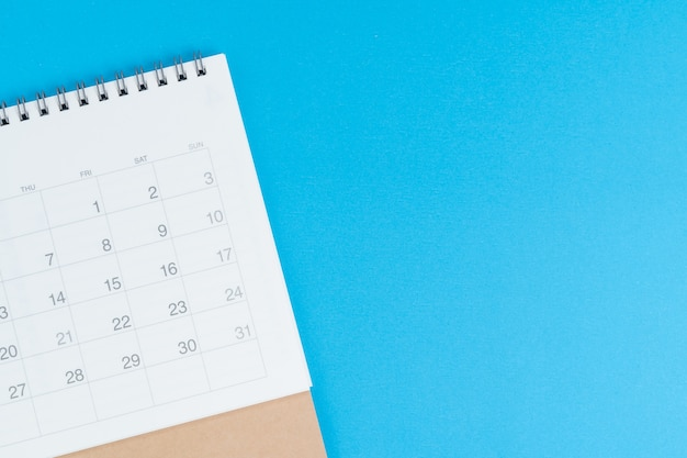 Kalenderherinnering, plan en afspraakconcept