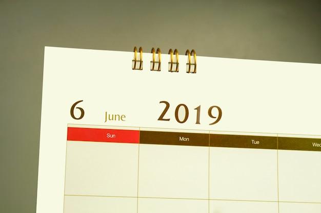 Kalenderpagina van de maand