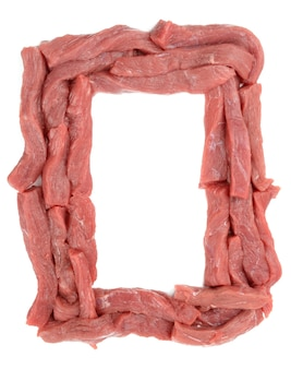 Kalfsvlees op een witte achtergrond