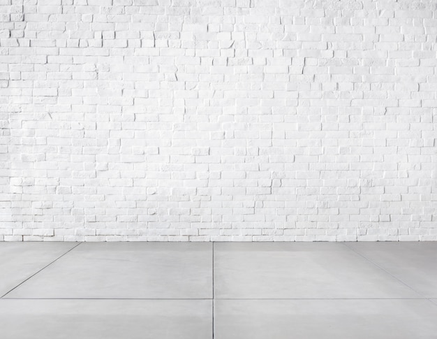 Kamer gemaakt van bakstenen muur en betonnen vloer