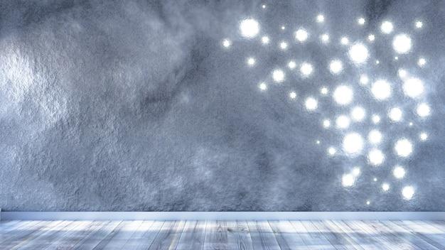 Kamer interieur kerstvakantie achtergrond 3d illustratie rendering