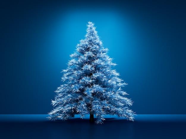 Kamer interieur kerstvakantie fir tree achtergrond 3d illustratie rendering