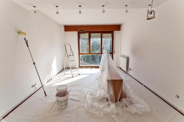 Kamer klaar om te schilderen