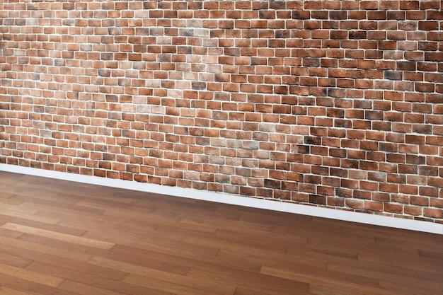 Kamer met bakstenen muur
