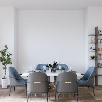 Kamer met stoelen en eettafel