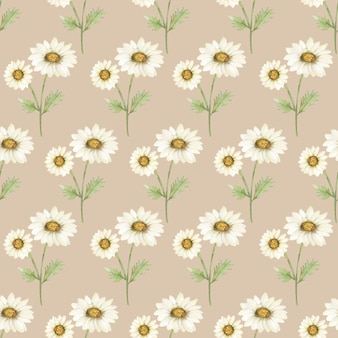 Kamille naadloze patroon, aquarel vintage daisy papier, rustieke weide florals voor stof, wilde bloemen herhalen patroon, afdrukken ontwerp, scrapbooking