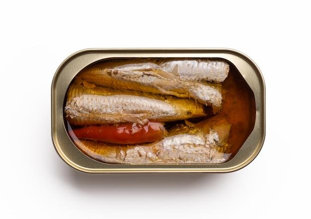 Kan op witte achtergrond vissen