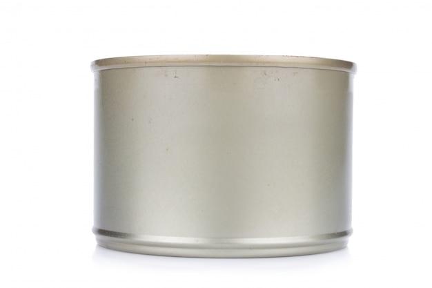 Kan zilver geïsoleerd op een witte achtergrond