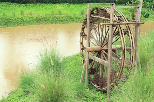 Kanaal in platteland thailand