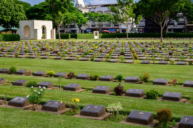 Kanchanaburi oorlogsbegraafplaats (don rak) tweede wereldoorlog kanchanaburi province, thailand