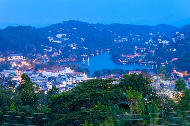 Kandy luchtfoto panoramisch uitzicht