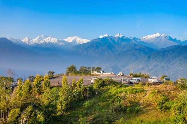Kangchenjunga-uitkijkpunt, pelling