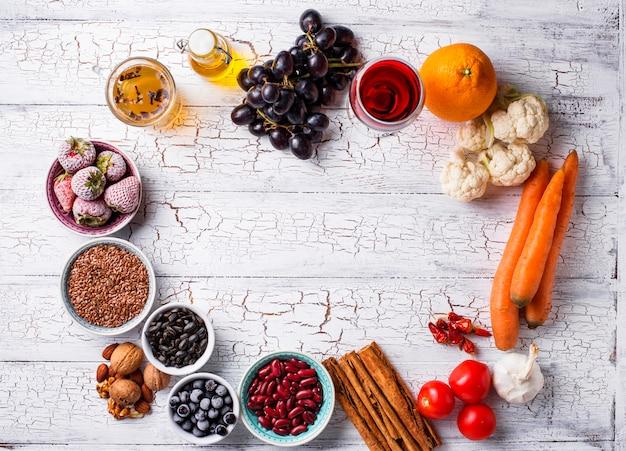Kankerbestrijdende producten. voedsel voor gezond
