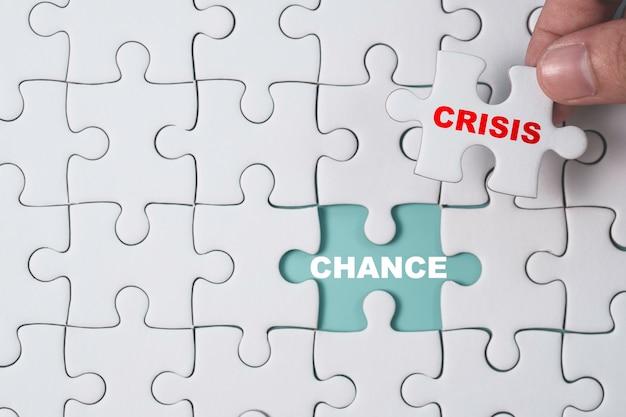 Kans en crisis concept