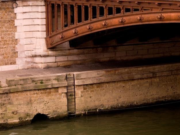 Kant van brug in parijs frankrijk