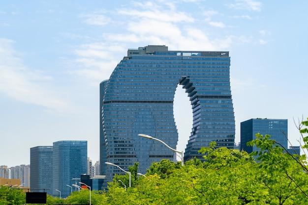 Kantoorgebouw van financieel centrum, binjiang district, hangzhou, china