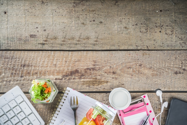 Kantoorlunch: groentesaladepotten